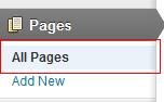 Paginas en WordPress