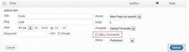 Permitir comentario WordPress