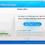 PhoneClean libera espacio en tu iPhone, iPad y iPod.