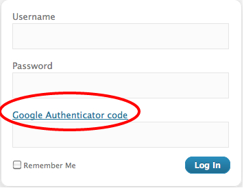 Wordpress Google authenticator
