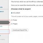 Cómo exportar todo el contenido de tu blog en WordPress