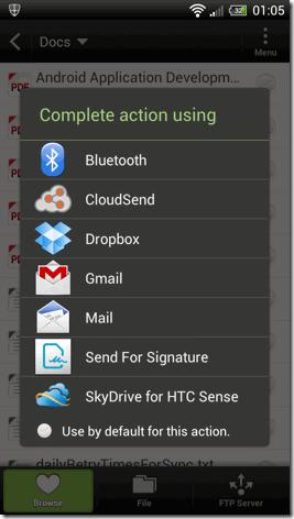 Compartir con Cloudsend