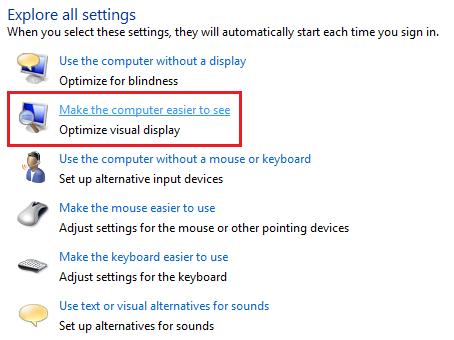 Computador facil de ver