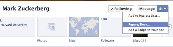 Facebook reportar bloquear