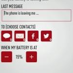 Last Message: un mensaje automático a un contacto para decir que te quedarás sin bateria [Android]