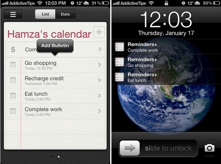 Reminders iPhone