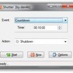 Shutter: apagar, reiniciar o cierra sesión en Windows automáticamente