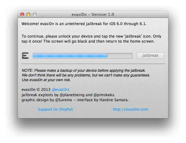 Evasi0n - Jailbreak para iPad Mini