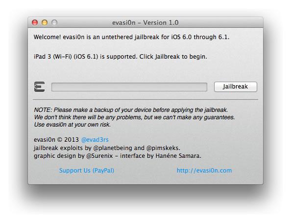 evasi0n - Jailbreak para iPhone 5
