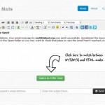 HTML Mail 2.0: nutrido editor para enviar correos