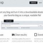 Bloxp: convierte tu blog en un ebook