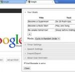 Goal Reminder, recordatorios en Google Chrome