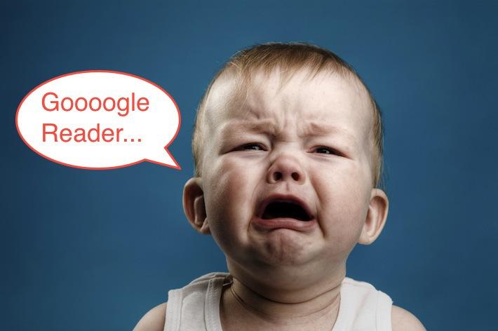 Google Reader bebe llorando