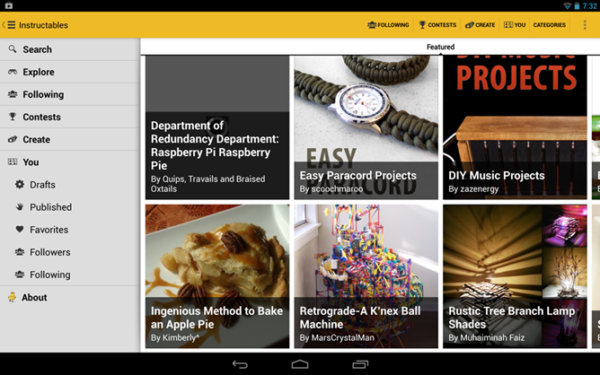 Instructables para Android e iOS