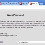 LastPass te advierte si la contraseña está repetida o es débil