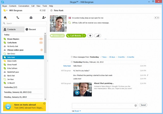 Mesaje de vídeo Skype