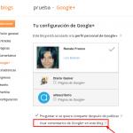 Cómo usar comentarios de Google Plus en Blogger