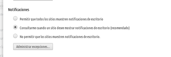 Notificaciones Chrome