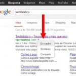 Google añade un menú desplegable a sus resultados para caché y sitios similares