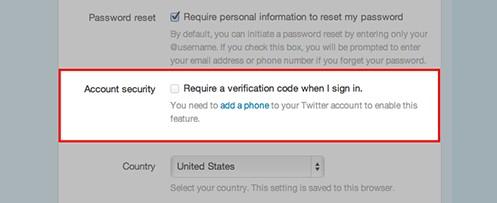 Seleccionar requerir verificacion