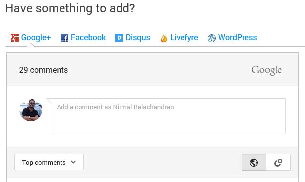 Google-comments wordpress