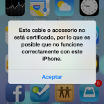 Si no usas un cable Lightning oficial en iOS 7 no podrás cargar y sincronizar tu iPhone