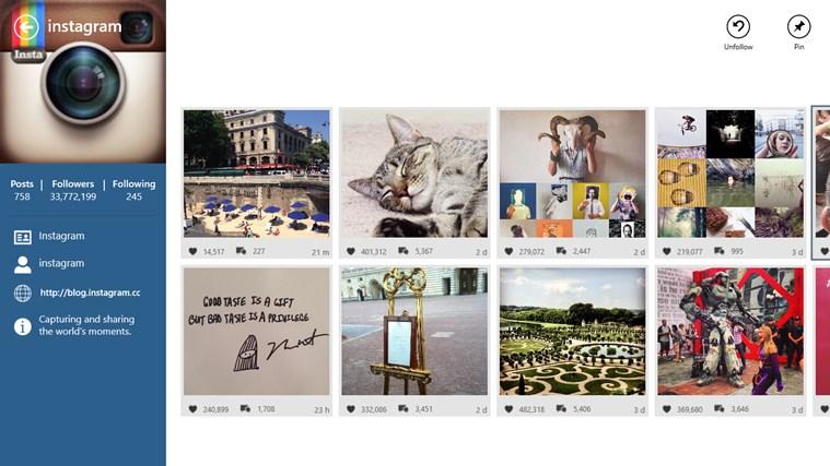 Cómo subir fotos a Instagram en Windows 8