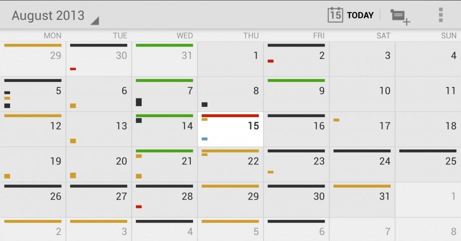 Google Calendar Mensual