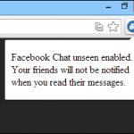 Deshabilita el \'Visto\' y \'Escribiendo\' del chat de Facebook [Chrome]