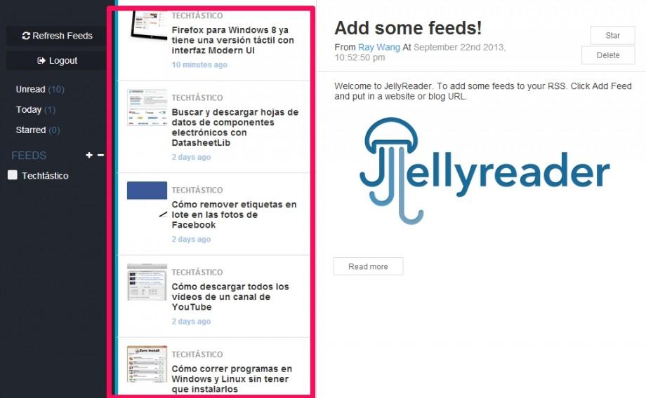 JellyReader feeds