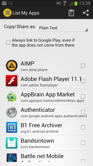 List My Apps