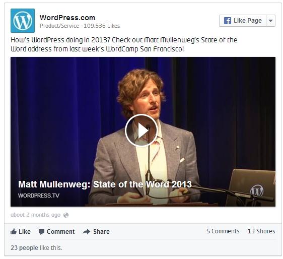 incrustar facebook en wordpressCOM