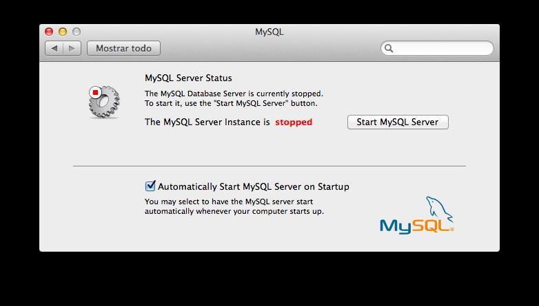 5 - Iniciar MySQL desde Preferencias del sistema
