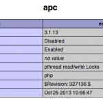 Cómo instalar APC (Alternative PHP Cache) en OS X Mavericks