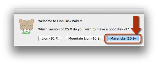 Lion DiskMaker para Mavericks