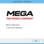 MegaSync aplicacion de escritorio de MEGA para Windows