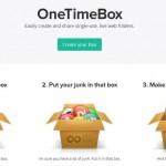 OneTimeBox: una caja de archivos para compartir sin registrarte