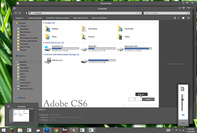 Adobe CS6 Windows 8.1 Theme
