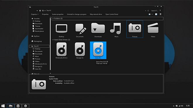 Gray8.1 Windows 8.1 Theme
