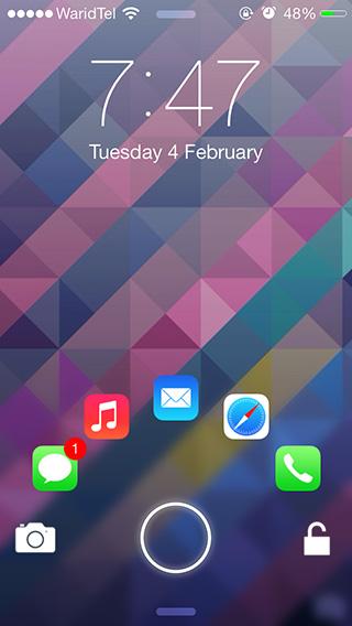 JellyLock7 en iOS 7