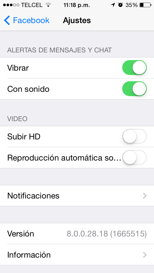 Auto reproducción de video en Facebook para iOS