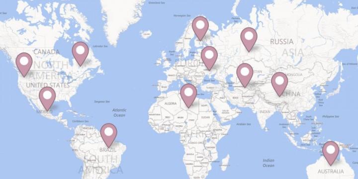 Mapa de ubicación en Facebook