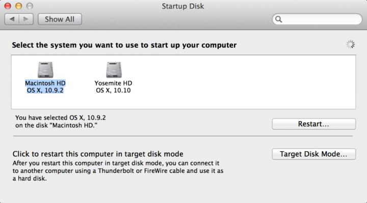 Disco de arranque de OS X Yosemite